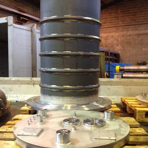 Pièce industrielle de la chaudronnerie marmonier en inconel ou aluminium ou titane