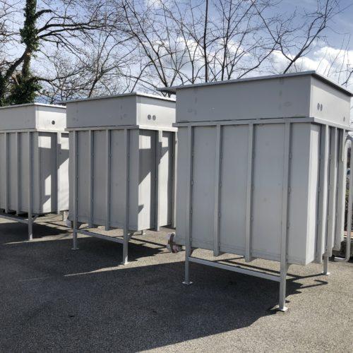 Photo de 3 cuves en inox - fabrication industrielle française par la chaudronnerie Marmonier en Rhône-Alpes