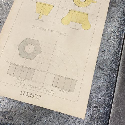 Plans de conception pour la réalisation d'un four de fusion en minérais - Conception de la chaudronnerie Marmonier