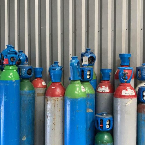 Photos de bombonnes de gaz colorées