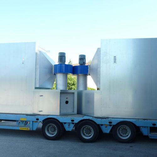 Transport d'étuve de séchage en partance pour une livraison client