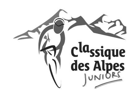 Logo en noir et blanc de la Classique des Alpes (cyclisme) dont la chaudronnerie Marmonier est le sponsor
