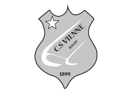 Logo en noir et blanc du CS Vienne Rugby dont la chaudronnerie Marmonier est le partenaire