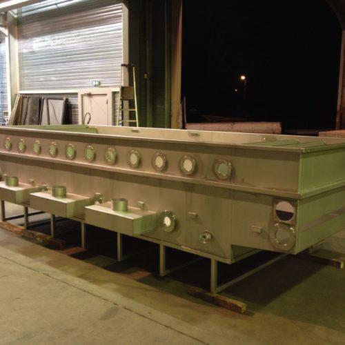 Image d'une cuve de traitement en cours de fabrication à la chaudronnerie Marmonier - Isère (38)