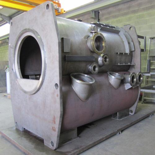Ossature d'un four de trempe produit par Marmonier, fabricant de fours (trempe, fusion, sous vide) et de cuves en inox